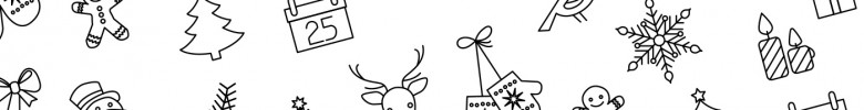 Free Vector Christmas Line Art Icons