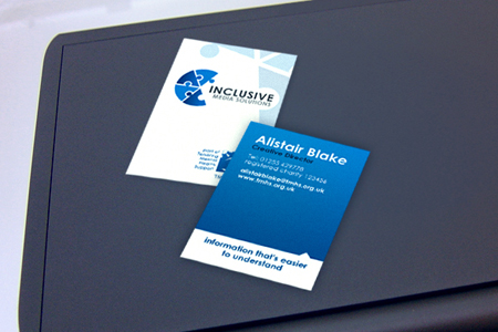 Business Cards blue 13