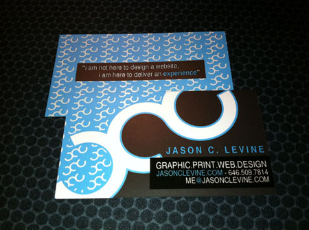Business Cards blue 15