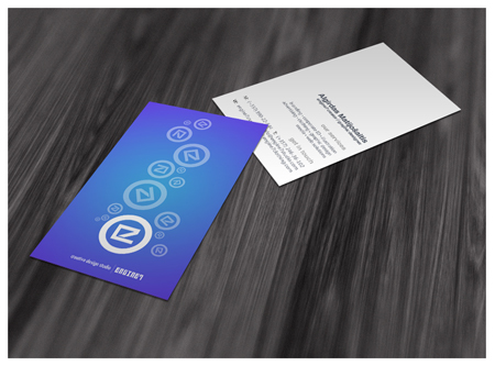 Business Cards blue 19