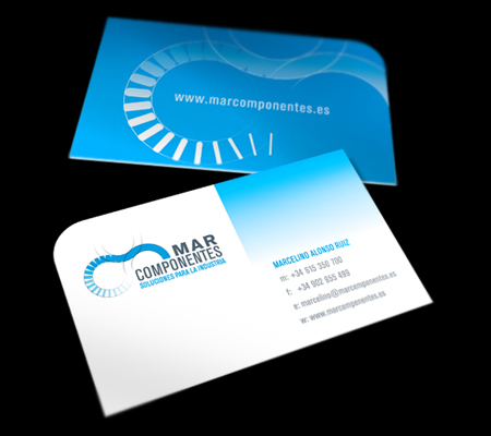 Business Cards blue 21
