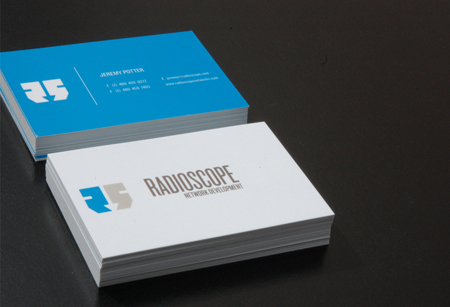 Business Cards blue 3