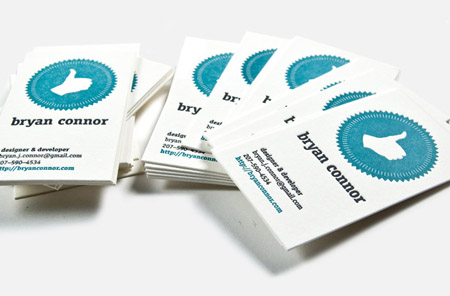 Business Cards blue 35