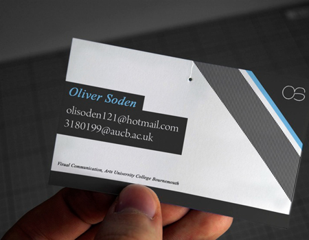 Business Cards blue 8