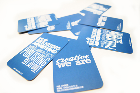 Business Cards blue 9