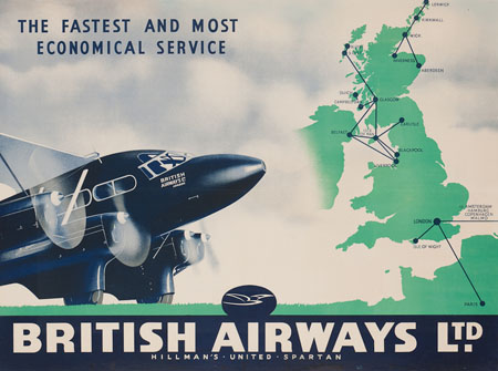 Vintage Airline Posters ba1