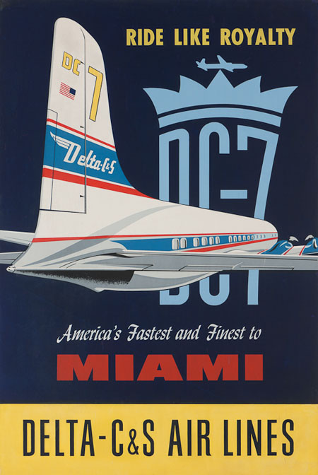 Vintage Airline Posters delta2