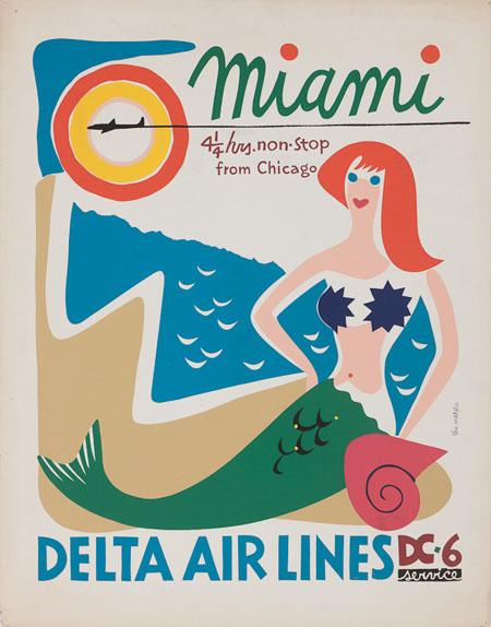 Vintage Airline Posters delta3