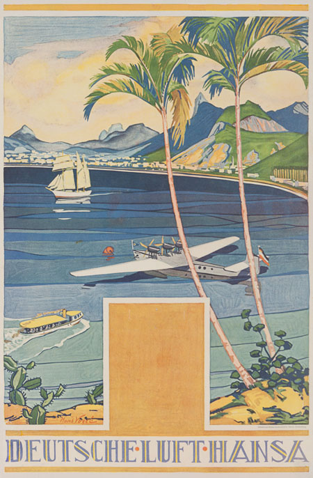 Vintage Airline Posters lufth 5