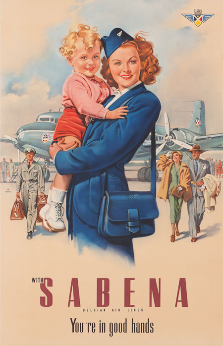 Vintage Airline Posters sabena 1
