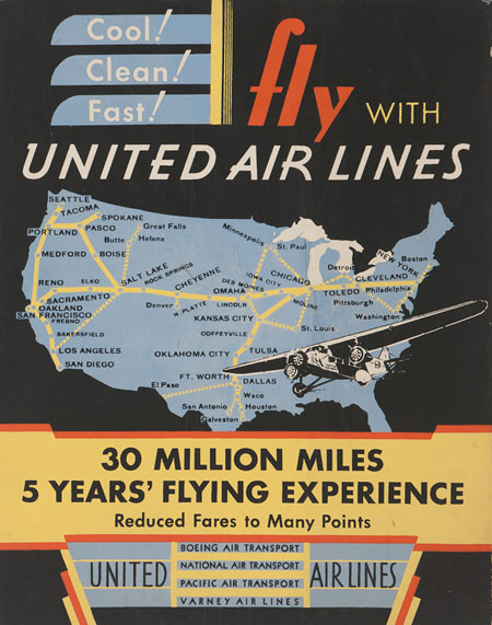 Vintage Airline Posters united7