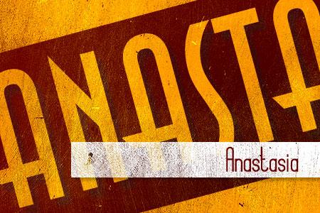 Handpicked Vintage Fonts Anastasia