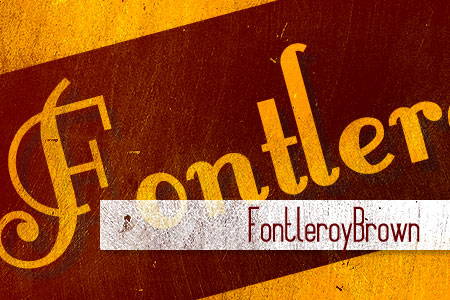 Handpicked Vintage Fonts Fontleroybrown