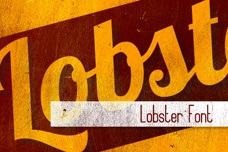 Handpicked Vintage Fonts Lobster