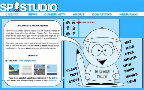 Animated Interactive Sites South Park Studio