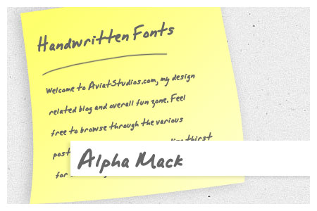 Free Handwritten Font Collection - Alpha Mack AOE