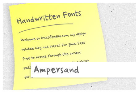 Free Handwritten Font Collection - Ampersand