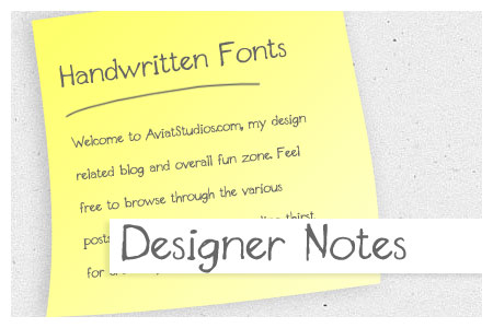 Free Handwritten Font Collection - Designer Notes