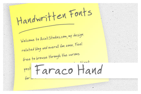 Free Handwritten Font Collection - Faraco Hand
