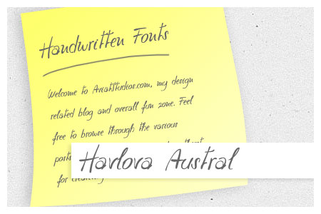 Free Handwritten Font Collection - Havlova Austral