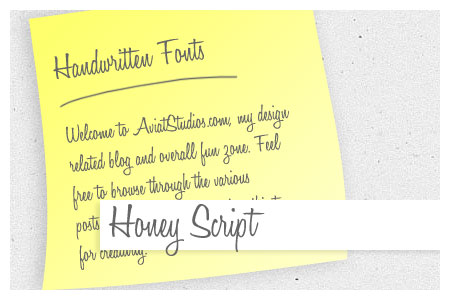 Free Handwritten Font Collection - Honey Script