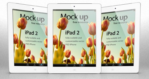Free Templates For Busy Designer - iPad 2 Psd Vector Mockup Template