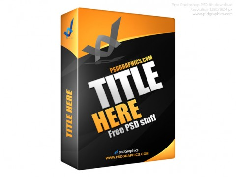 Free Templates For Busy Designer - Black software box in PSD format