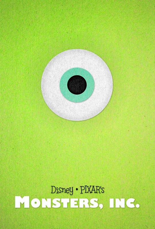 Pixar Posters by Sam Novak