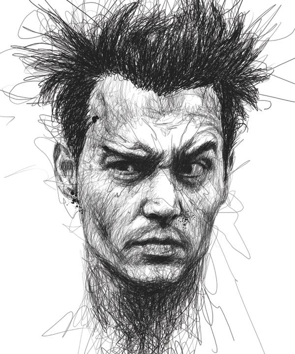 Vince Low - Faces - Johnny Depp