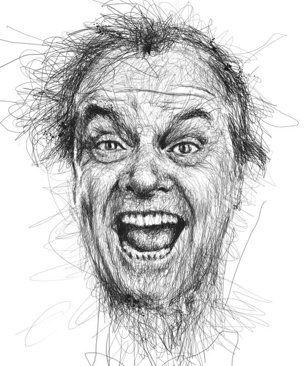 Vince Low - Faces - Jack Nicholson