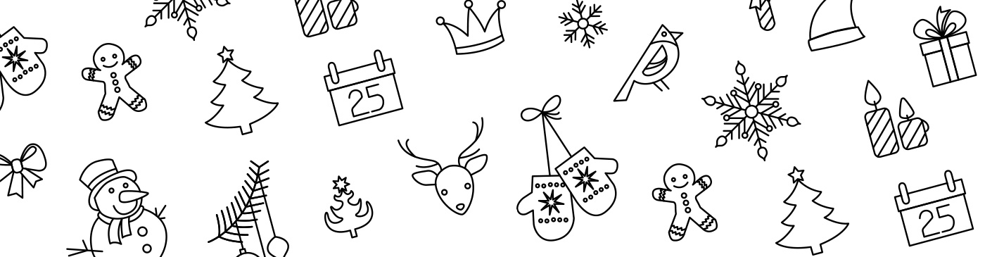 Featured Image Christmas Line Art Icons
