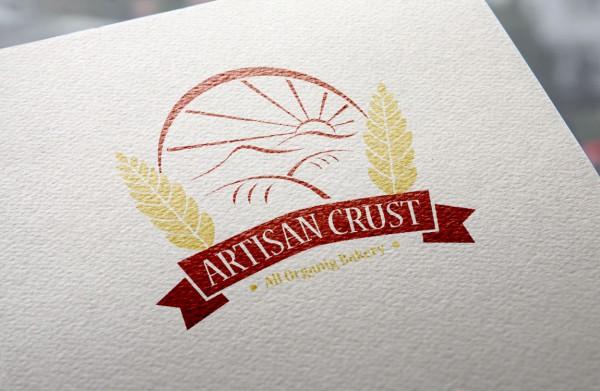 Logo Mockup - Artisan Crust