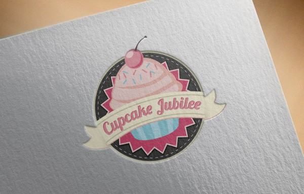 Logo Mockup - Cupcake Jubilee