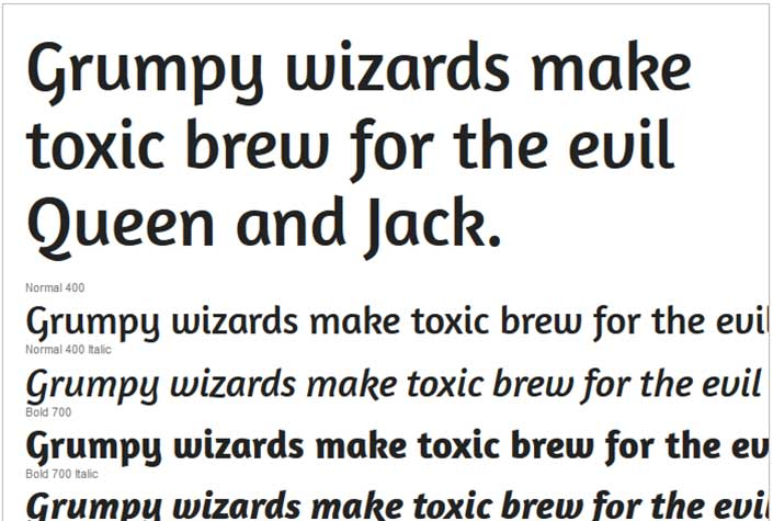 Best Free Google Web Fonts - Amaranth