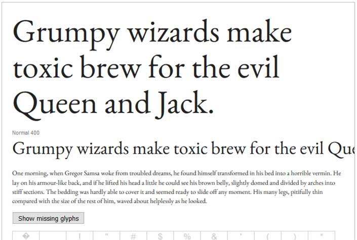 Best Free Google Web Fonts - EB Garamond