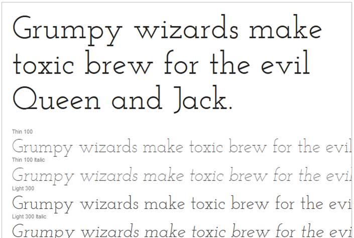 Best Free Google Web Fonts - Josefin Slab