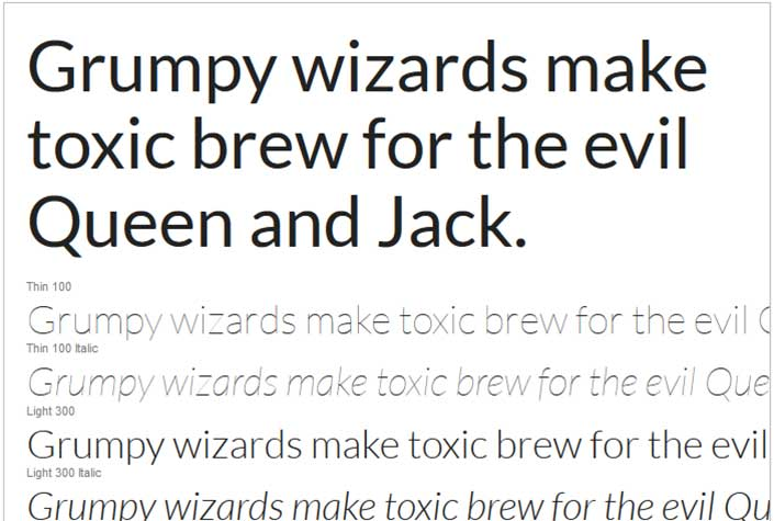 Best Free Google Web Fonts - Lato