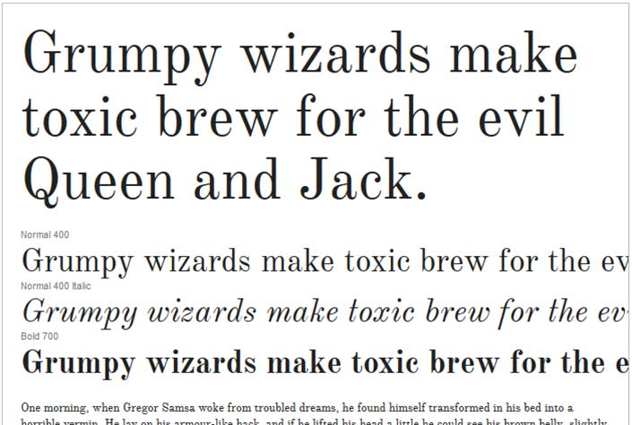 Best Free Google Web Fonts - Old Standard TT