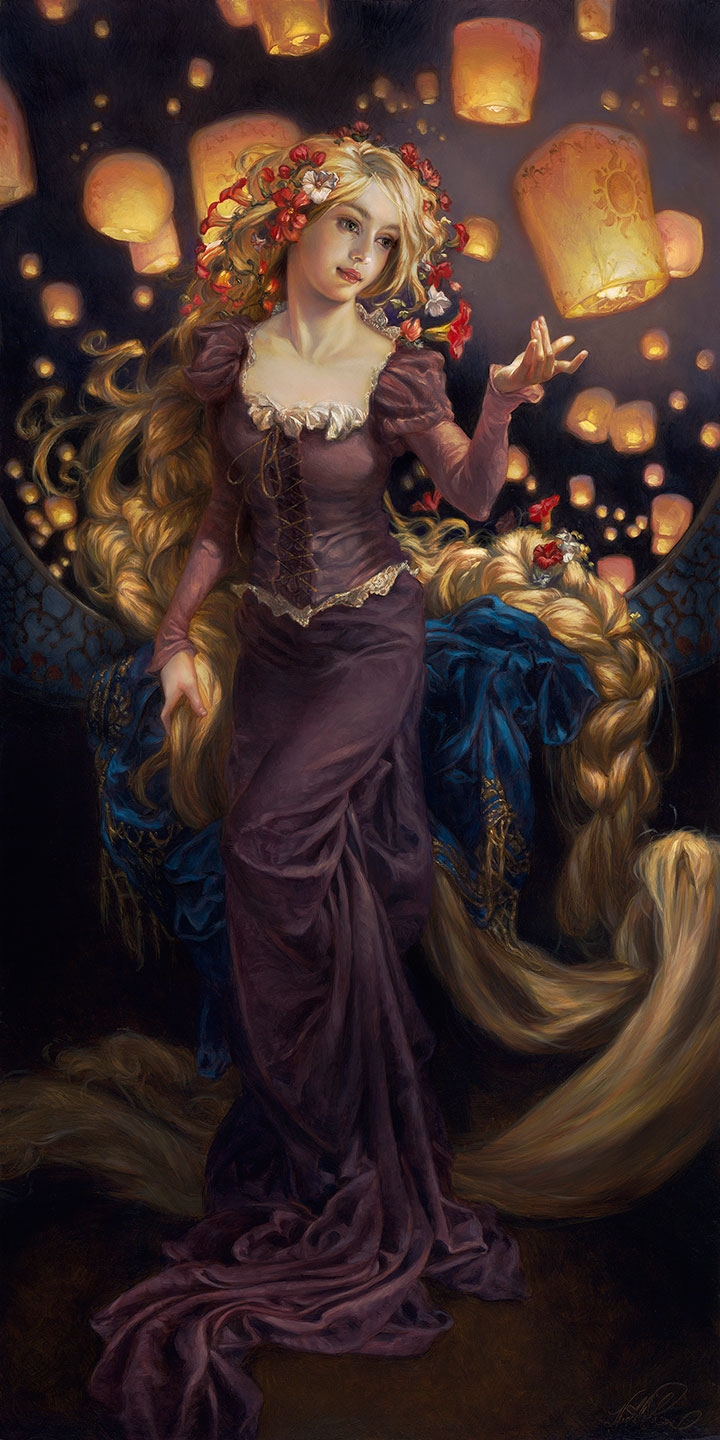 Heather Theurer Disney Characters - Rapunzel