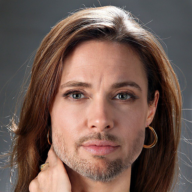Photoshop Guru Fuses Celebrity Faces Together - Angelina Jolie and Brad Pitt