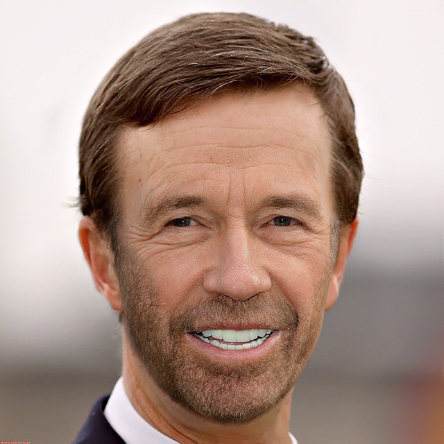 Photoshop Guru Fuses Celebrity Faces Together - Bernd Lucke and Chuck Norris