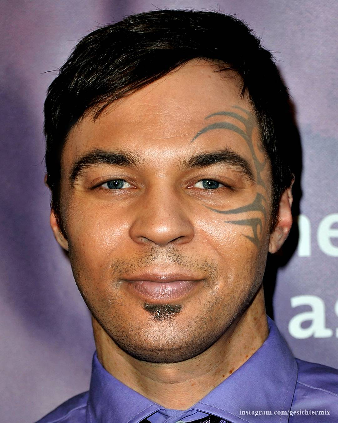 Photoshop Guru Fuses Celebrity Faces Together - Jim Parsons and Mike Tyson