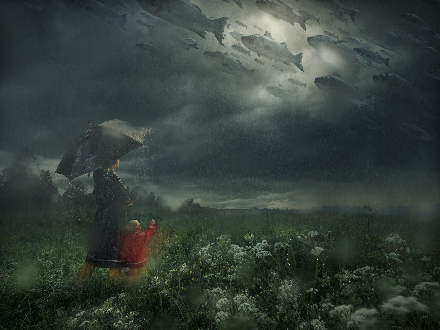 Erik Johansson Lost in the Rain
