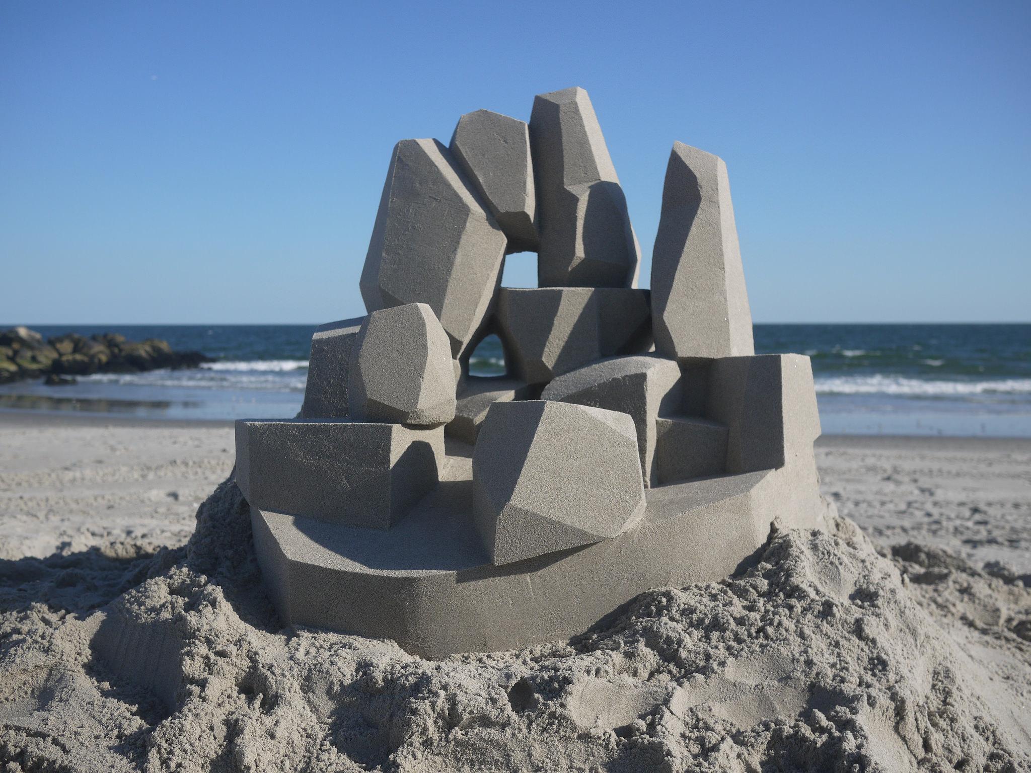 Modern Geometric Sandcastles by Calvin Seibert