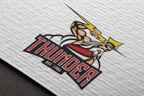 Logo Mockup - Thunder Hockey Club