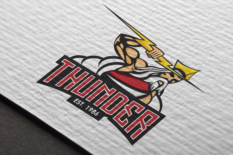 Logo Mockup - Thunder Hockey Club